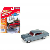 1965 Chevrolet Nova SS Glacier Gray Poly Limited Edition to 1800pc Worldwide Hobby Exclusive Muscle Cars USA 1/64 Diecast Model Car by Johnny Lightning JLMC010B