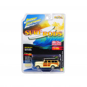 1941 Chevrolet Special Deluxe Woody Cameo Cream Limited Edition to 2400pc Worldwide Surf Rods 1/64 Diecast Model Car by Johnny Lightning JLCP7021