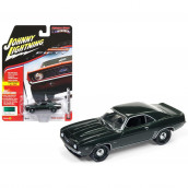 1969 Chevrolet Camaro ZL1 Fathom Green Poly 50th Anniversary Limited Edition to 1800pc Worldwide Hobby Exclusive Muscle Cars USA 1/64 Diecast Model Car by Johnny Lightning JLSP003-A