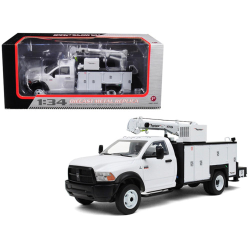 RAM 5500 with Maintainer Service Body White 1/34 Diecast Model by First Gear 10-4060