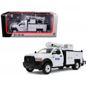 RAM 5500 Komatsu with Maintainer Service Body White 1/34 Diecast Model Car by First Gear 10-4060A