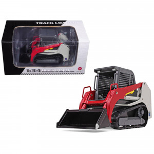 Track Loader Gray/Red 1/34 Diecast Model Car by First Gear 10-4113