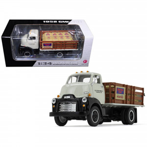 1952 GMC COE Stake Truck with Sack Load K and B Potato Farms Inc. 1/34 Diecast Model by First Gear 19-4110