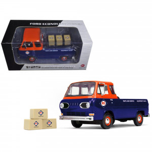 1960's Ford Econoline Pickup with Boxes Allis-Chalmers Parts and Service 1/25 Diecast Model Car by First Gear 49-0401