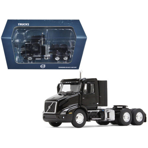 Volvo VNR 300 Day Cab Sable Black Metallic 1/50 Diecast Model Car by First Gear 50-3363