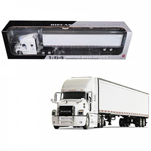 Mack Anthem Sleeper Cab with 53' Trailer White 1/64 Diecast Model by First Gear 60-0367