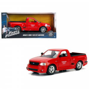 Brian's Ford F-150 SVT Lightning Pickup Truck Red Fast and Furious Movie 1/24 Diecast Model Car by Jada 99574
