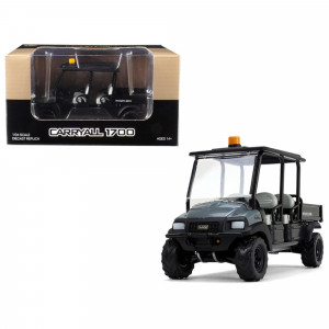 Club Car Carryall 1700 4x4 with Tilting Box Dark Gray/ Black 1/34 Diecast Model by First Gear 10-4157