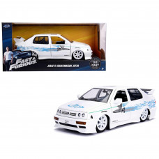 Jesse's Volkswagen Jetta White Fast and Furious Movie 1/24 Diecast Model Car by Jada 99591