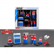 6 piece Garage Shop Tools Set #1 Brock Racing Enterprises (BRE) 1/18 Diecast Replica by GMP 18905