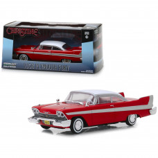 1958 Plymouth Fury Red Christine (1983) Movie 1/43 Diecast Model Car by Greenlight 86529