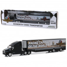 Kenworth T2000 Transporter Indianapolis Motor Speedway Wheel, Wings and Flag Hobby Exclusive 1/64 Diecast Model by Greenlight 30037