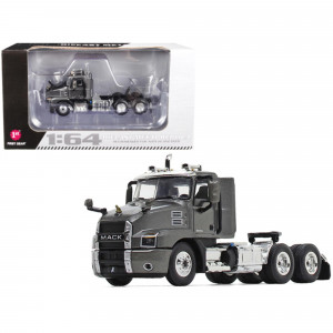 Mack Anthem Day Cab Tractor Truck Graphite Gray 1/64 Diecast Model by First Gear 60-0621