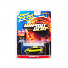 1990 Honda CRX Yellow Street Freaks Johnny Lightning 50th Anniversary Limited Edition to 2,400 pieces Worldwide 1/64 Diecast Model Car by Johnny Lightning JLCP7201