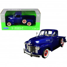 1953 Chevrolet 3100 Pickup Truck Blue 1/24-1/27 Diecast Model Car by Welly w22087bl