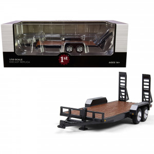 Tandem-Axle Tag Trailer Magnetic Gray 1/50 Diecast Model by First Gear 50-3421