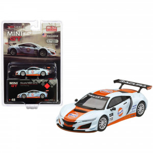 Acura NSX GT3 #19 Gulf Racing Light Blue and Orange Limited Edition to 4,800 pieces Worldwide 1/64 Diecast Model Car by True Scale Miniatures MGT00048