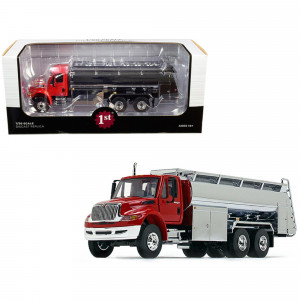 International DuraStar Liquid Fuel Tank Truck Viper Red and Chrome 1/50 Diecast Model by First Gear 50-3433