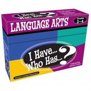 I Have... Who Has...? Language Arts Game (Gr. 3–4)