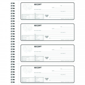Hammond & Stephens KPG 2 Parts Carbonless Receipt Book, 8-1/2 x 11 inches, 240 Receipts, Textured Blue Cover