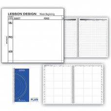 Hammond & Stephens 0444-6 P Structured Lesson Plan Book, PolyIce Cover, 9-1/4 x 12-1/4 Inches, 6 Subjects, 40 Week, Green/ Blue