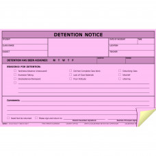 Hammond & Stephens 4-Part Carbonless Detention Notice Form, 5 x 8 Inches, White, Canary, Pink, Pack of 100