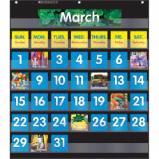 Scholastic Monthly Calendar Pocket Chart, Black
