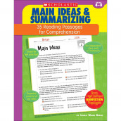 Scholastic Reading Passages for Comprehension, Main Ideas and Summarizing
