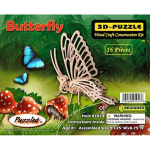 Puzzled 3D Jigsaw 16 Pieces 4 Years-and UP Brown