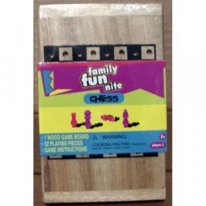 Family Fun Nite Chess Wooden Game Board