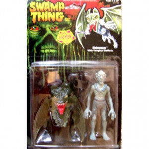 Skinman Action Figure with Fangbat Biomask - 1990 Swamp Thing Evil Unmen Series