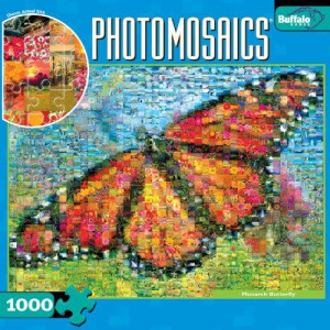 Photomosaic: Monarch Butterfly 1000pc Jigsaw Puzzle