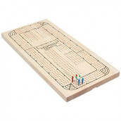 Four Track Cribbage Board Card Game