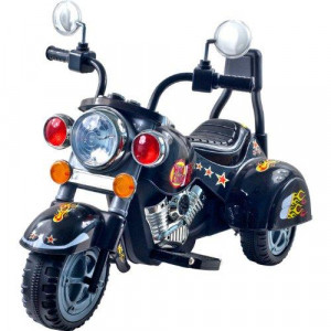 Ride on Toy 3 Wheel Trike Chopper Motorcycle for Kids by Lil' Rider - Battery Powered Ride on Toys for Boys and Girls 18 Months - 4 Year Old Black