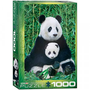EuroGraphics Panda and Baby 1000 Piece Puzzle