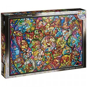 Disney Stained Art Jigsaw Puzzle1000P] All Stars Stained glass (DS-1000-764)