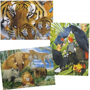 Mother and Cubs - 1000 piece jigsaw puzzle - Wildlife Series - 30008-3