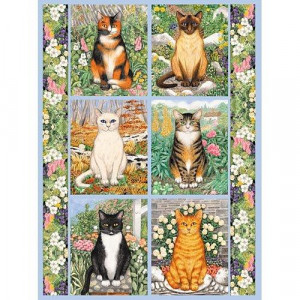 1000 Piece Jigsaw Puzzle: Cats in the Garden by Gale Pitt