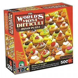TDc games The World?s Most Difficult Jigsaw Puzzle, Killer cupcakes, Double Sided, 500 pieces