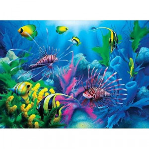 Springbok childrens Jigsaw Puzzles - Lions of The Sea - 100 Piece Jigsaw Puzzle - Large 13.5 Inches by 18.875 Inches Puzzle - Made in USA - Extra Large Easy grip Pieces