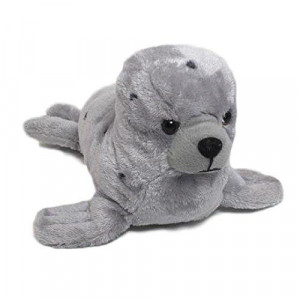 "Wishpets Stuffed Animal - Soft Plush Toy for Kids - 15.5"" Grey Spotted Seal"