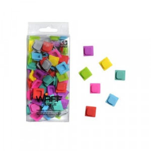 WAFF Solid Color Cubes - 100 Extra Add On Cube Booster Pack with Solid Colors for Pixel Art