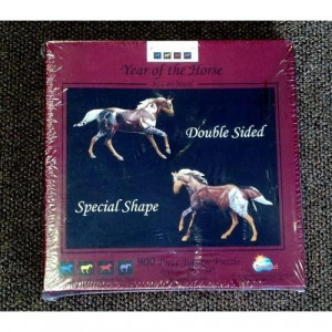 Year of the Horse Double sided Special shape 900 Piece puzzle