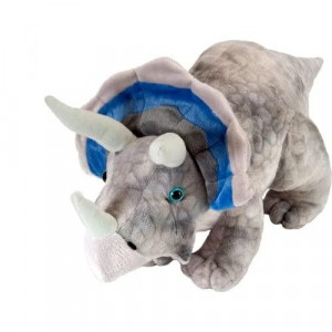 Wild Republic Triceratops Plush, Dinosaur Stuffed Animal, Plush Toy, gifts for Kids, Dinosauria 10 Inches