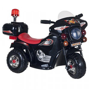 Ride on Toy 3 Wheel Motorcycle for Kids Battery Powered Ride On Toy by Lil' Rider - Ride on Toys for Boys and Girls Toddler - 4 Year Old Black