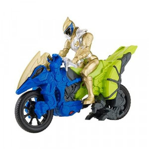 """Power Rangers Dino Super charge - Dino cycle with 5"""" gold Ranger Action Figure"""