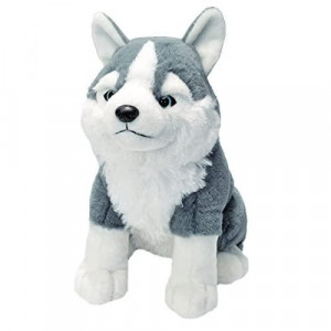 Wild Republic Sitting Husky Plush