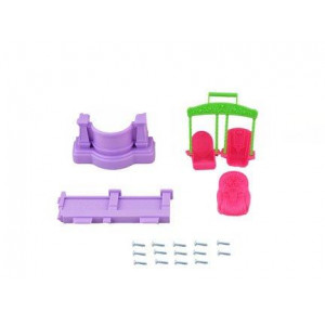 Fisher Price Loving Family Dollhouse - Replacement Swing Baby Seat Balcony & Front Door