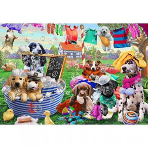 Vermont christmas company Laundry Day Kids Jigsaw Puzzle 100 Piece