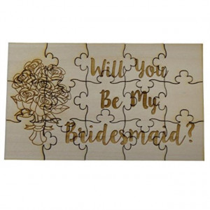 Will You Be My Bridesmaid 15 Piece Basswood Jigsaw Puzzle - Wedding Bridal Party Bouquet Bride Gift